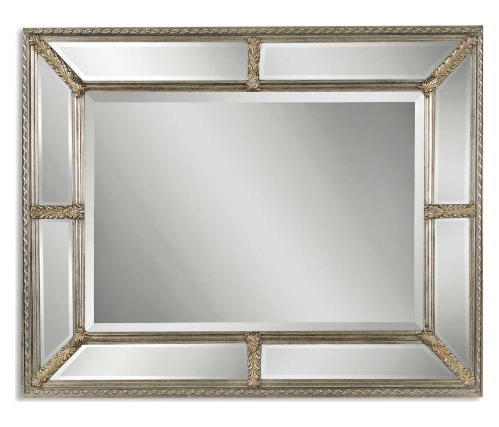 Uttermost B Antiqued Silver Leaf Lucinda Mirror With