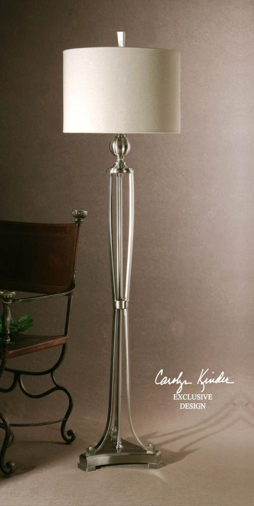 Uttermost Brushed Nickel Metal Finish Tristana Floor Lamp