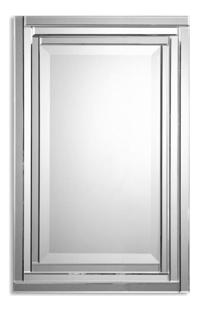 Uttermost B Beveled Glass Alanna Frameless Rectangular