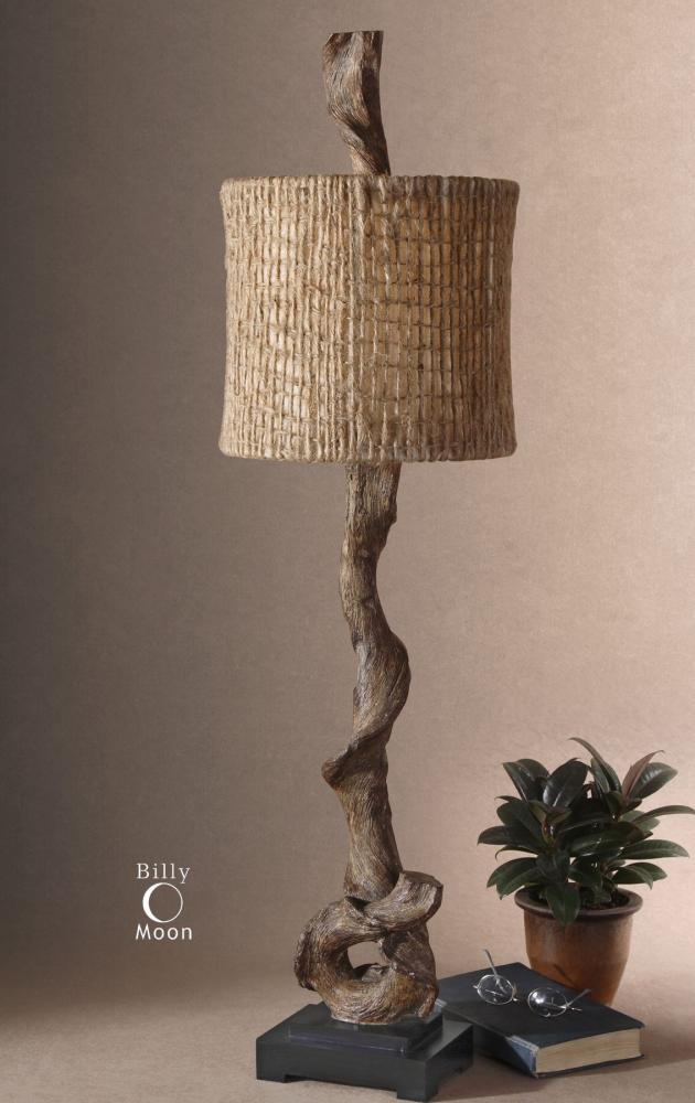 Uttermost Body Lamp With Natural Twine Shade From The Driftwood Collection