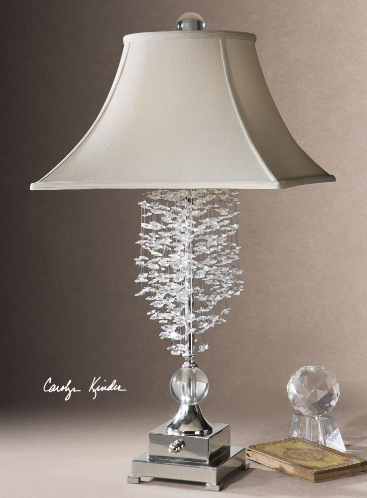 Uttermost Crystal Cascading Accented Lamp From The