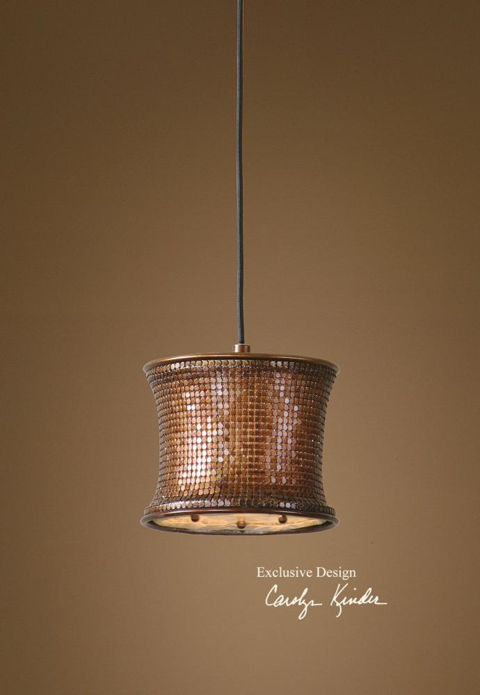 Uttermost Metallic Copper Single Light Copper Metal Mini