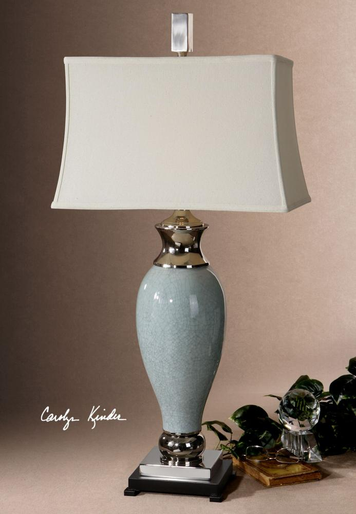 Uttermost Light Blue Single Light Ceramic Table Lamp From