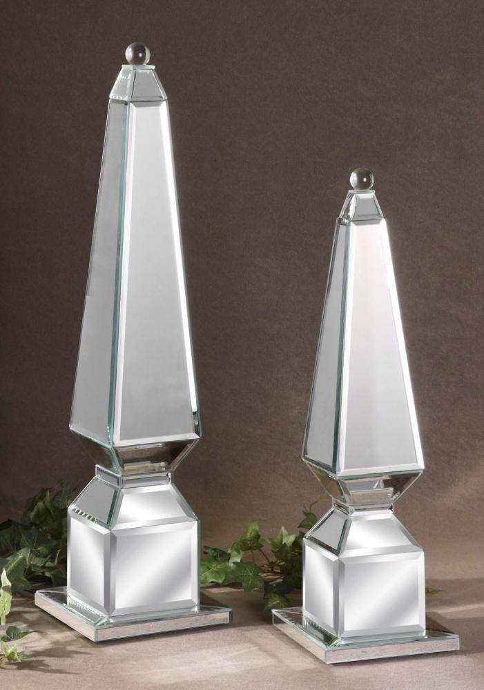 Uttermost Mirrored Alanna Set Of 2 Mirrored Decorative Finials