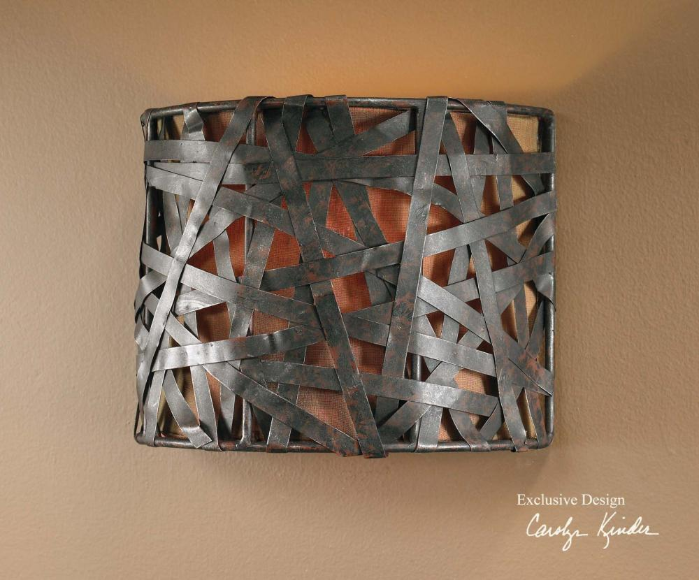 Uttermost Aged Black Single Light Wall Sconce From The Alita Collection