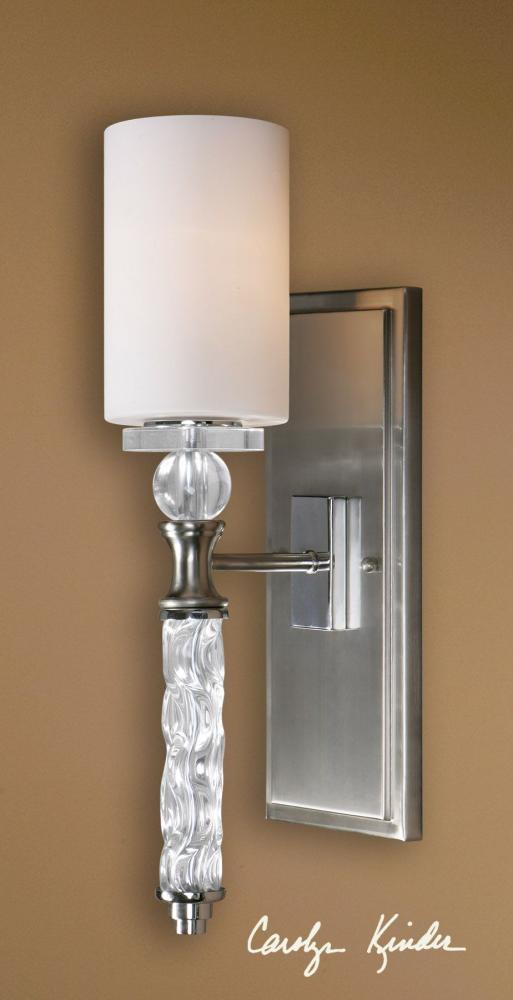 Uttermost Brushed Nickel Campania 1 Lt Wall Sconce Brushed Nickel 22486 From Campania Collection