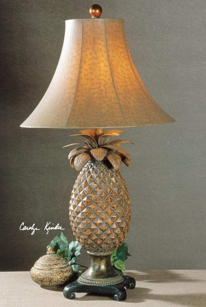 Uttermost Brown Glaze Bronze Accents Anana Pineapple