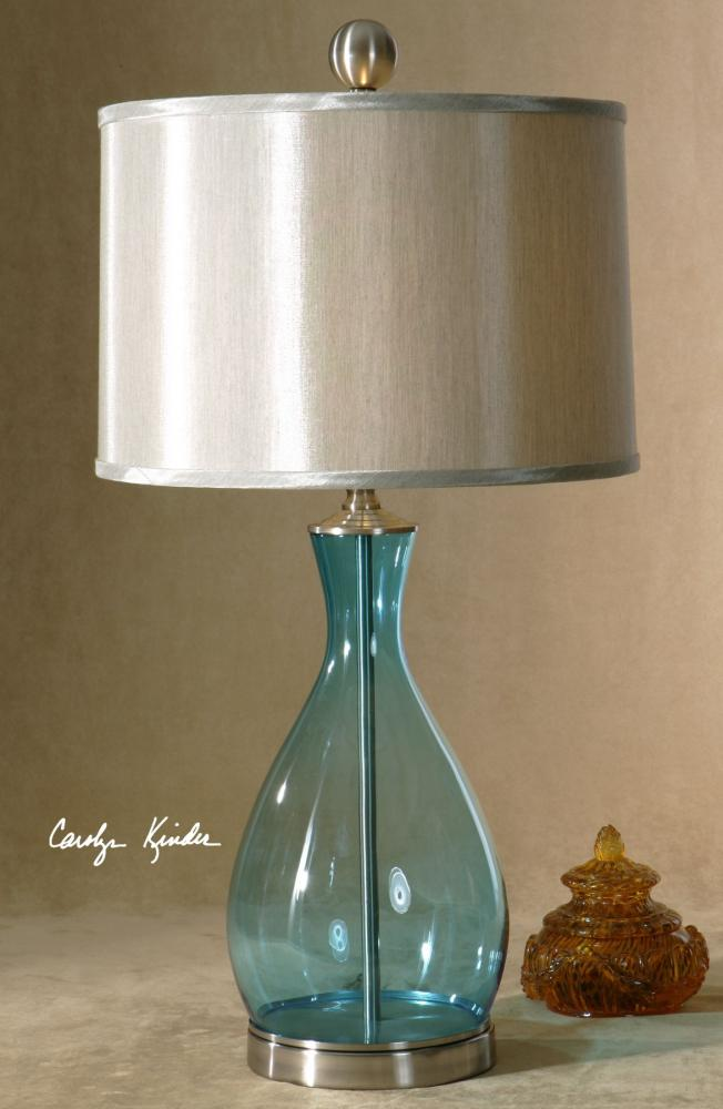 Uttermost Satin Nickel Metal Detail Meena Table Lamp