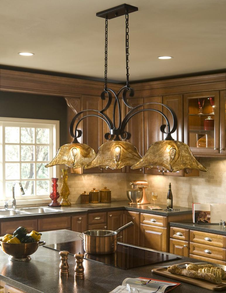 Uttermost Oil Rubbed Bronze Vetraio 3 Light Linear Chandelier Oil ...