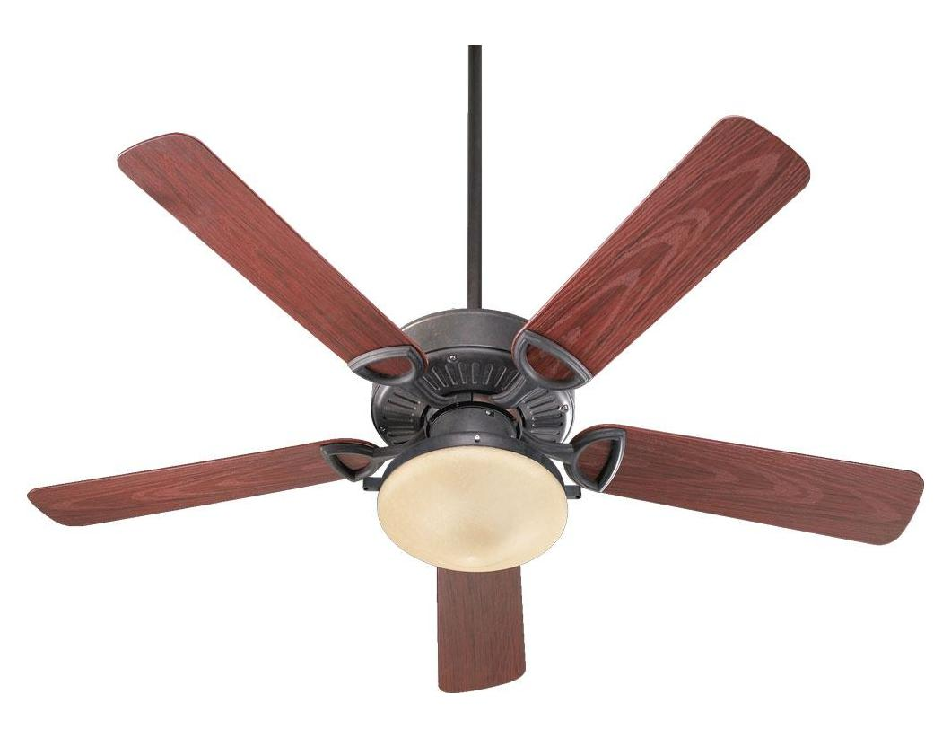 Quorum Two Light Toasted Sienna Outdoor Fan Bronze 143525