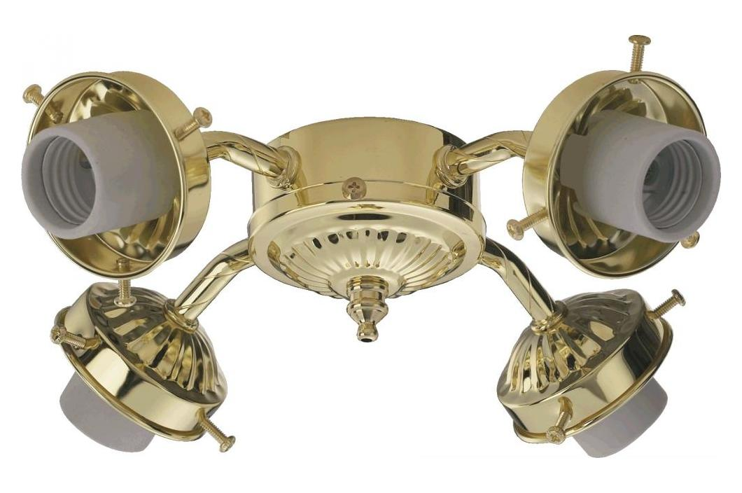 Quorum Four Light Polished Brass Fan Light Kit Polished