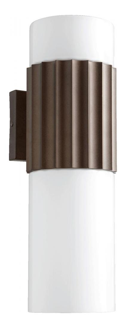 Quorum Two Light Oiled Bronze Opal Glass Outdoor Wall Light Oiled Bronze 730-2-86 From Dyno ...