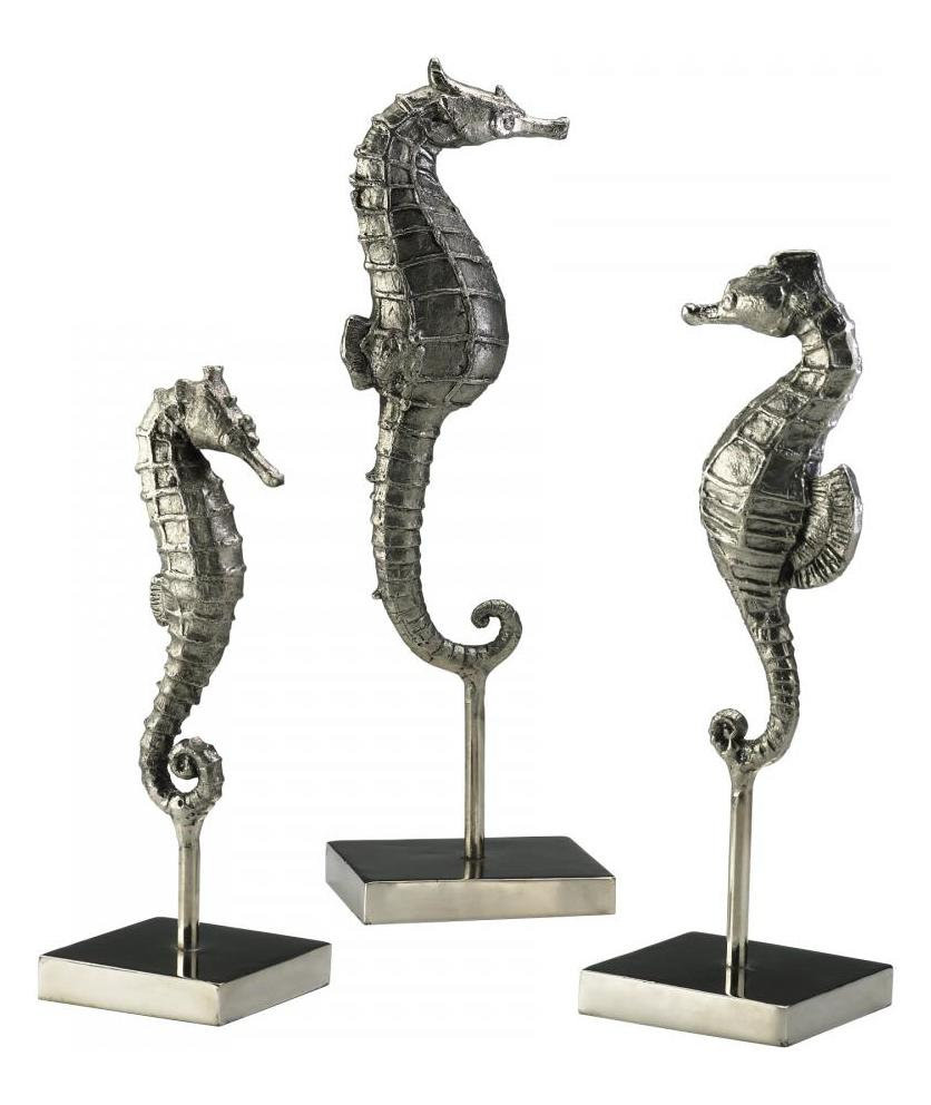 Cyan Designs Chrome 12.75in. Seahorses On Stand