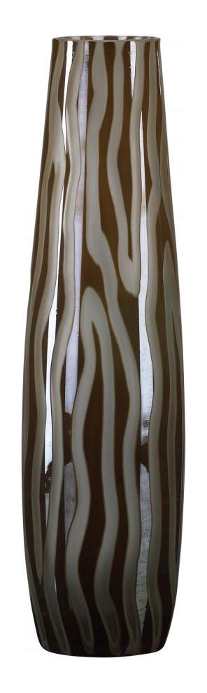 Cyan Designs Brown and Smoke 16in. Small Cafe Etched Vase