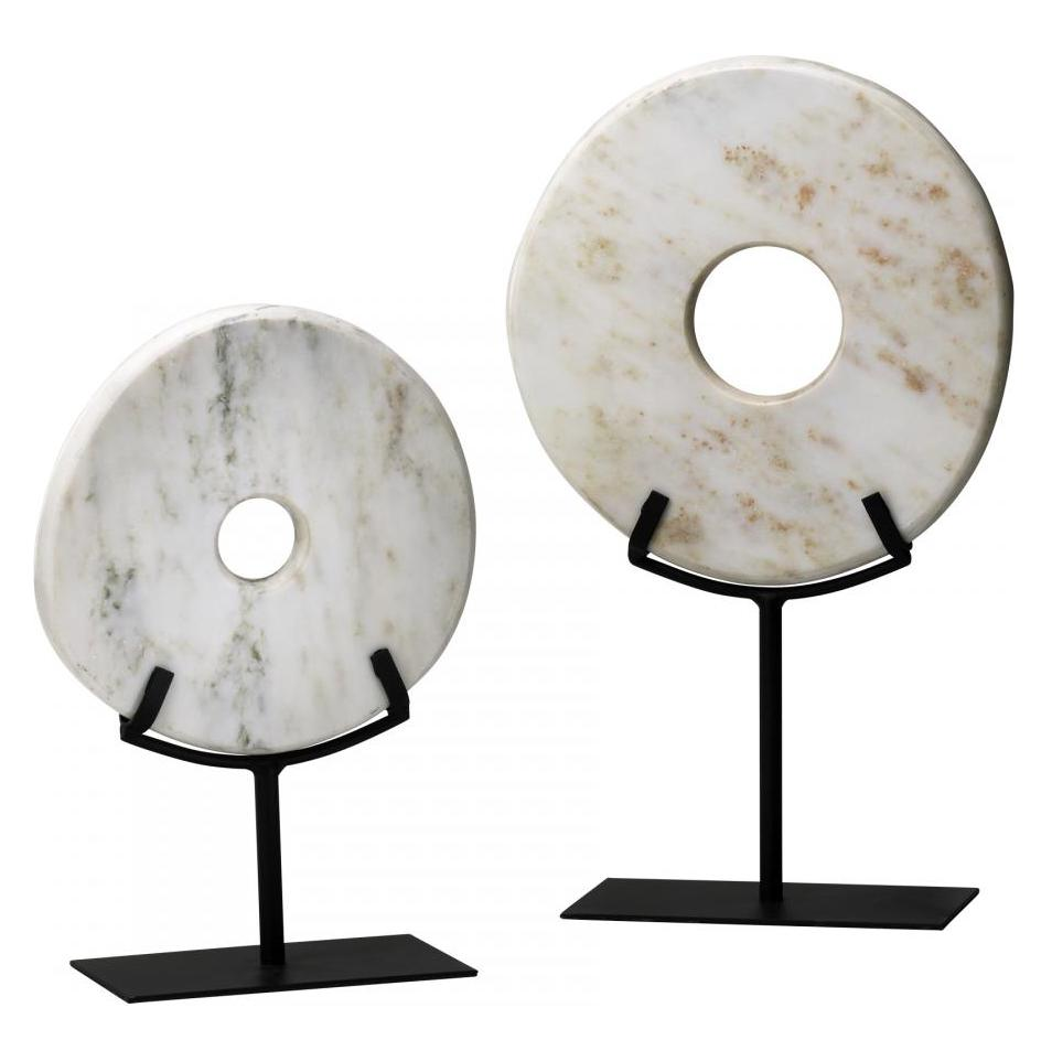 Cyan Designs White 17.25in. Large White Disk On Stand