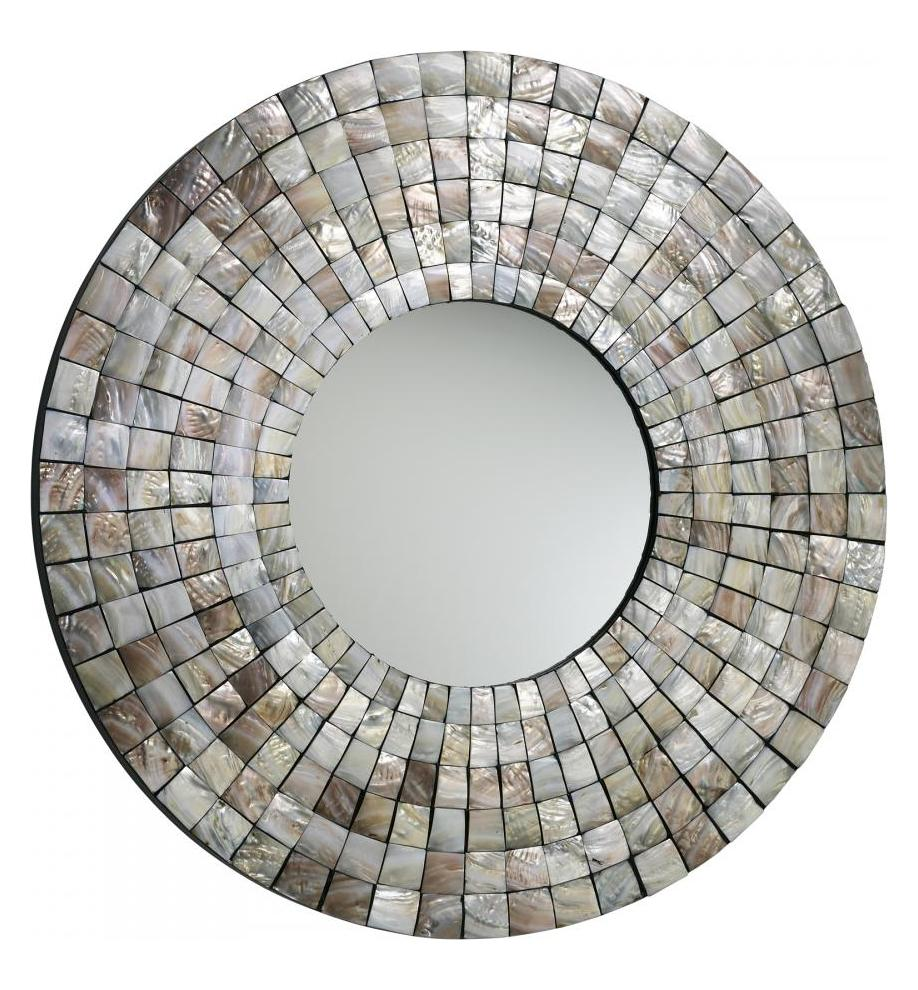 Cyan Designs Capiz Shell Mosaic Tile Mirror Capiz Shell