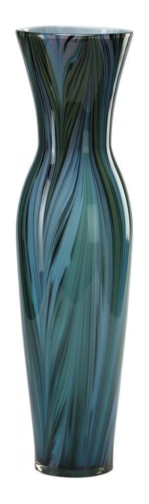Cyan Designs Multi Colored Blue 23in. Tall Peacock Feather Vase