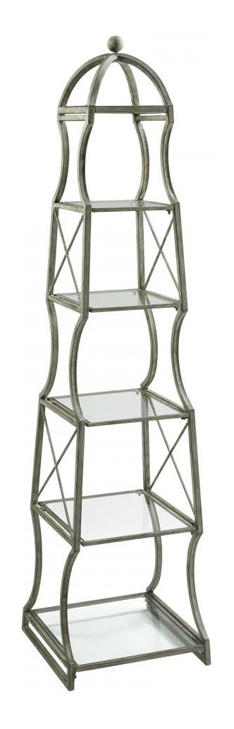 Cyan Designs Rustic Gray 6 Shelf Chester Etagere