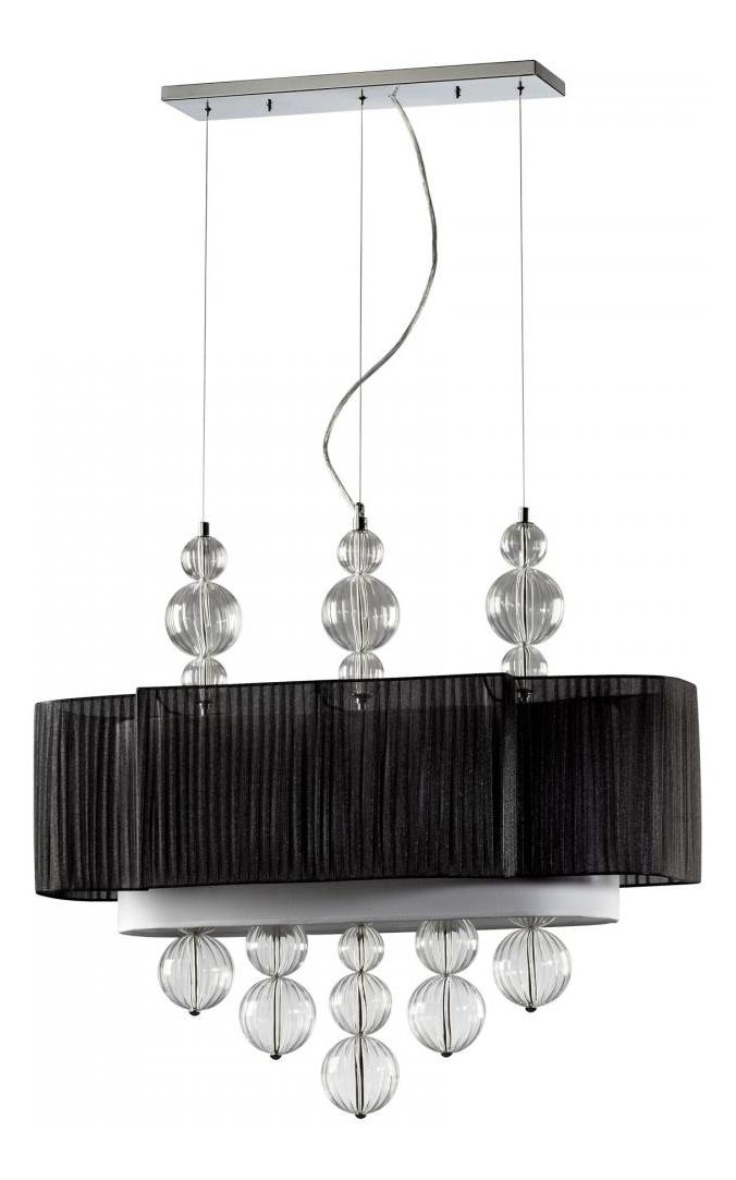 Cyan Designs Clear and Black Kravet 2 Light Linear Pendant