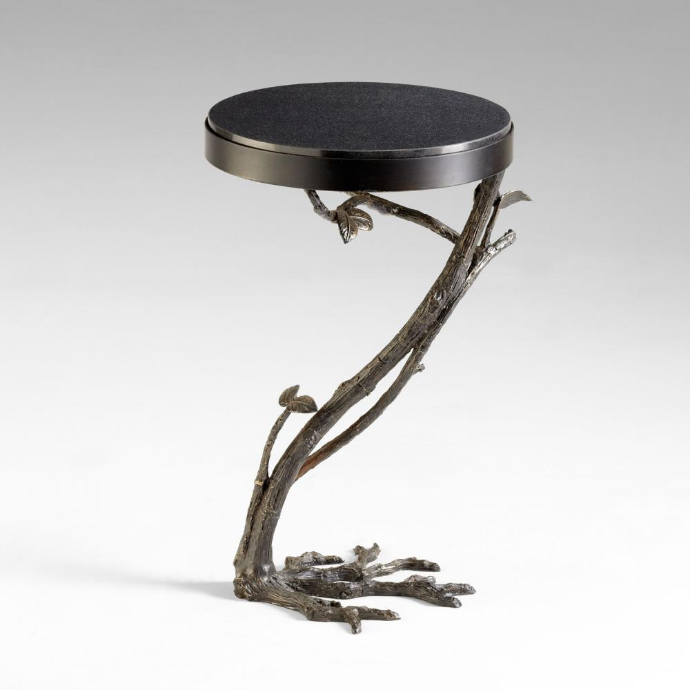 Cyan Designs Old World Faux Bois Side Table Black 04692