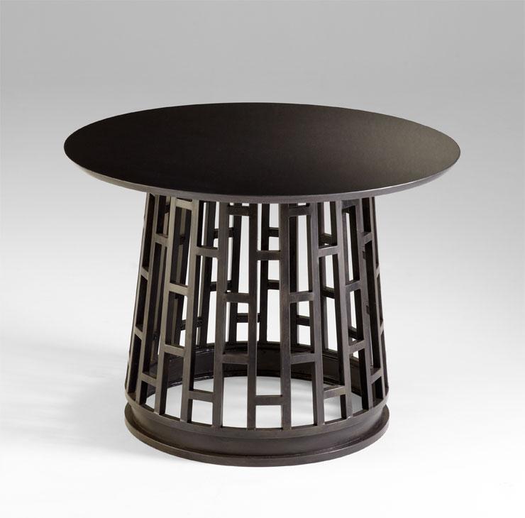 Cyan Designs Raw Steel Paulo Foyer Table Raw Steel 05032