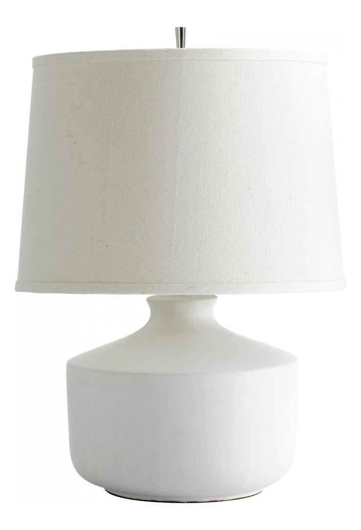Cyan Designs One Light White Off White Linen With White Lining Inside Shade Table L