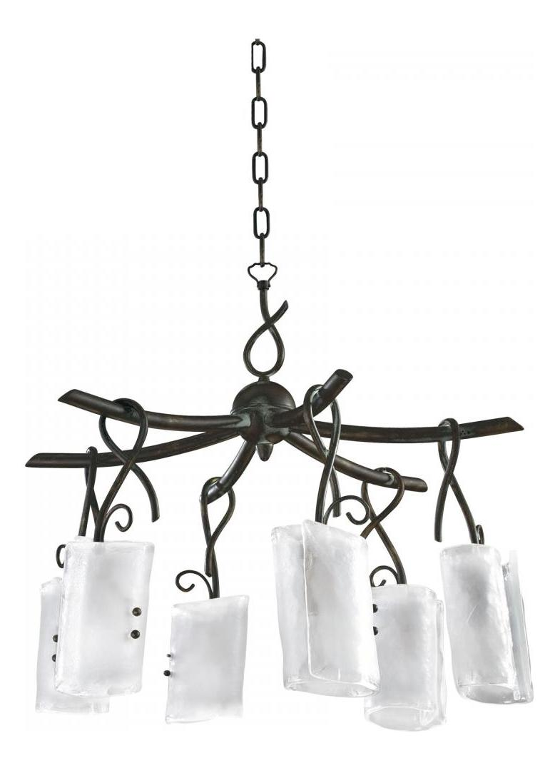 Cyan Designs Golden Graphite 26.5in. Six Lamp Chandelier from the Somerset Collection
