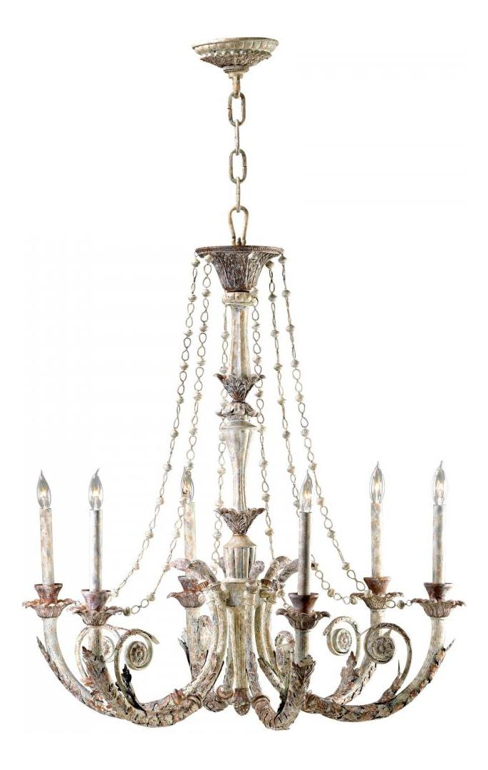Cyan Designs Six Light Parisian White Up Chandelier