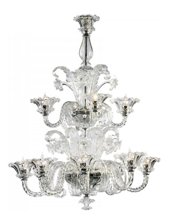 Cyan Designs Clear 43.25in. Twelve Lamp Chandelier from the La Scala Collection