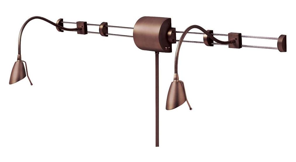 Dainolite Oil Brushed Bronze 2 Light Swing Arm Wall Sconce