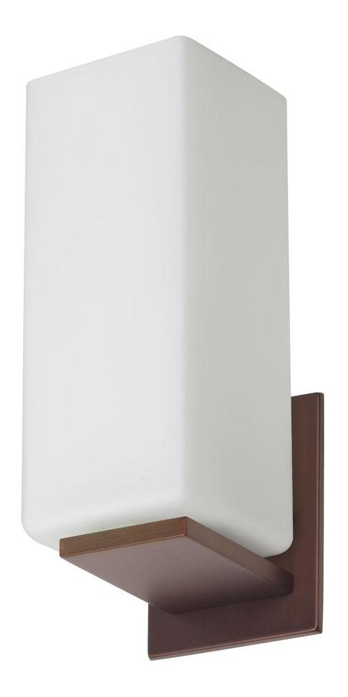 Brushed Bronze Wall Sconces : Dainolite Oil Brushed Bronze 1 Light Wall Sconce White EDR93021W-OBB