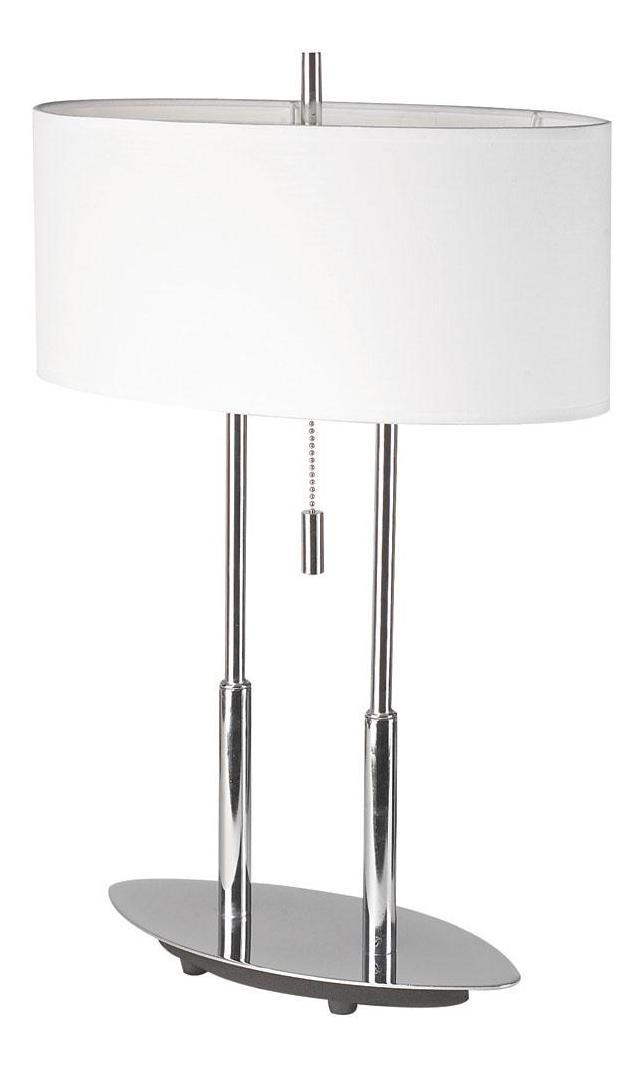 Dainolite Polished Chrome Decorative 2 Light Table Lamp