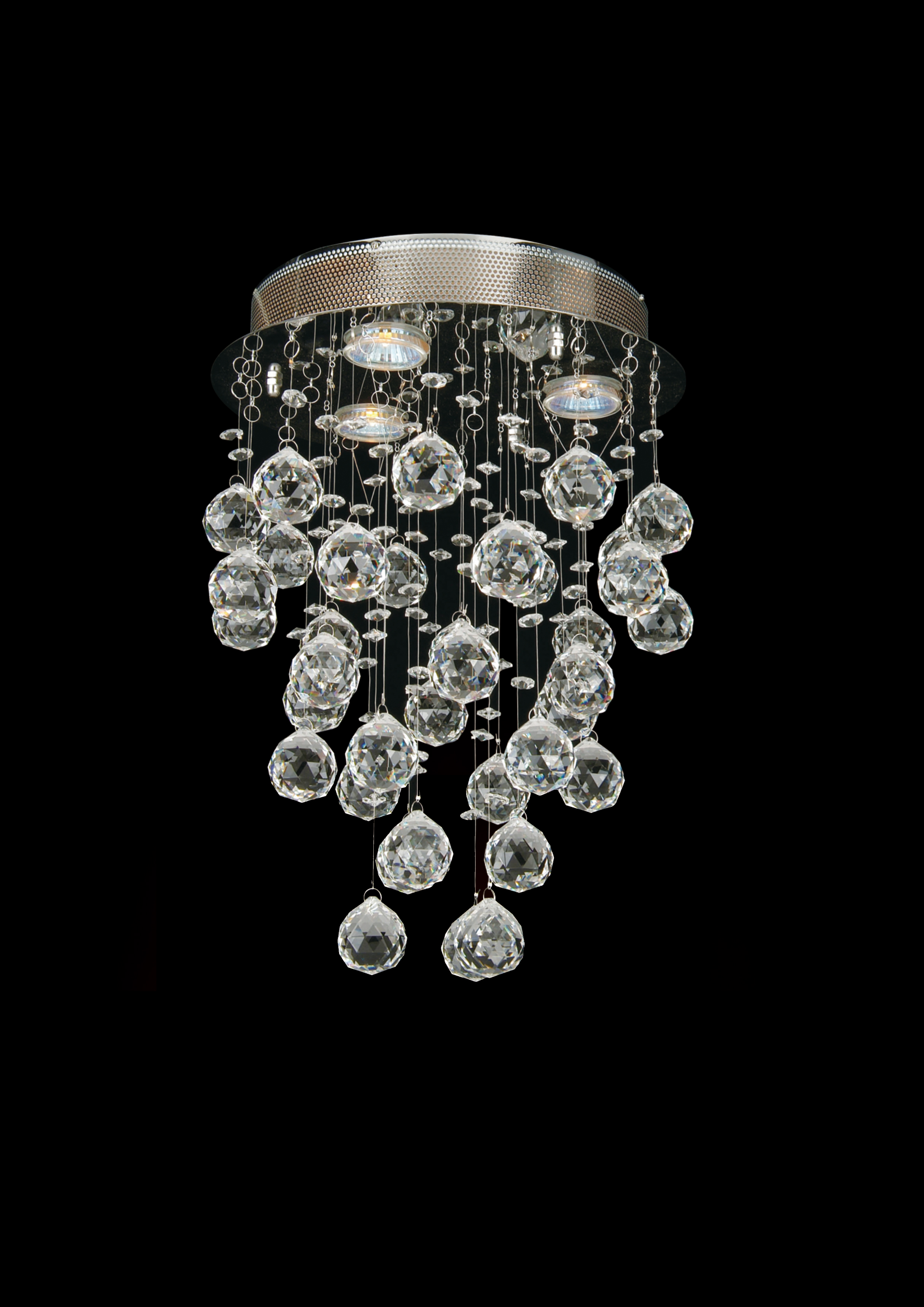 Bethel 3 Light Clear Crystal Lighting Fixture Gu10 50w Lx03