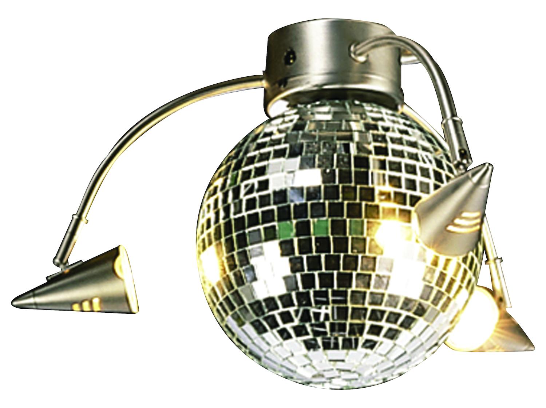 Craftmade Brushed Nickel Three Light Disco Ball Ceiling
