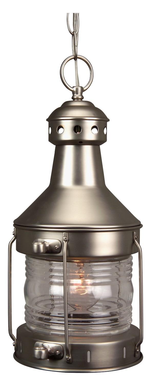 Craftmade Brushed Nickel Nautical 1 Light Lantern Outdoor