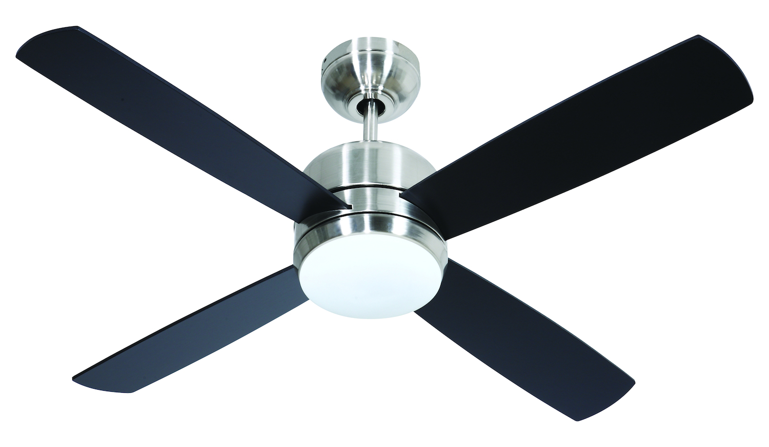 Four Blade Fan : Craftmade chrome in blade indoor ceiling fan blades