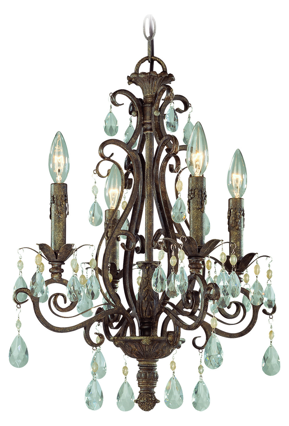 Craftmade Four Light French Roast Up Chandelier
