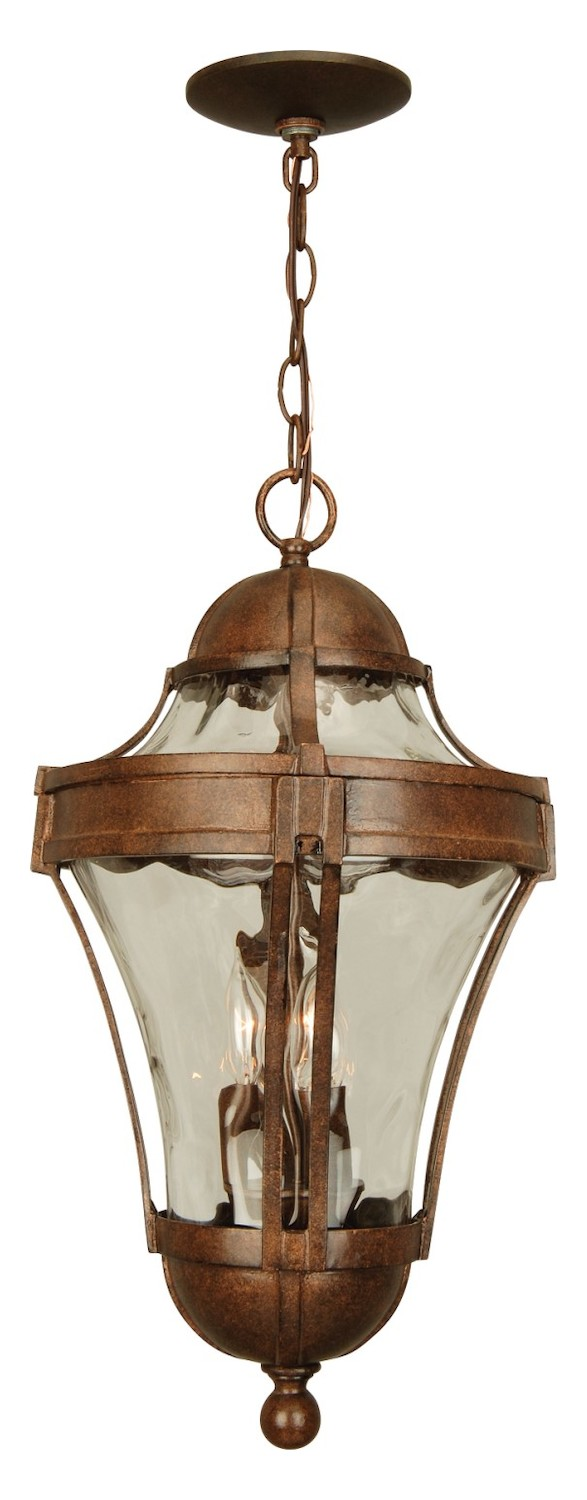 Craftmade Aged Bronze Parish 3 Light Lantern Outdoor