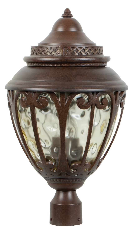 Craftmade Aged Bronze Olivier 3 Light Post Light Aged