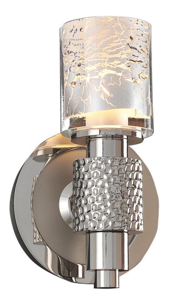 Kalco Polished Satin Nickel Ashington 1 Light Wall Sconce
