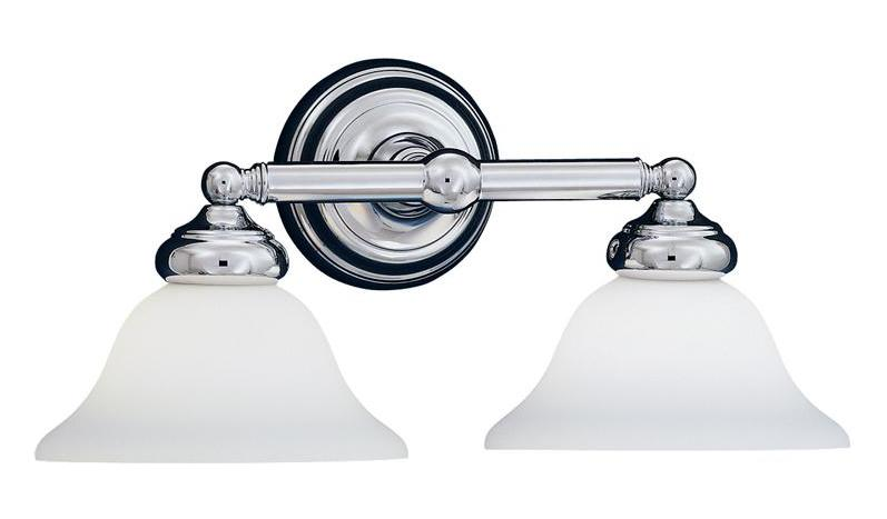 Designers Fountain Chrome 2 Light Bath Bar from the Opal Essence Collection