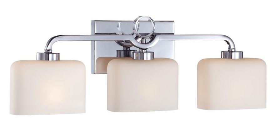 Designers Fountain Chrome 3 Light Bathroom Fixture from the Venetian Collection