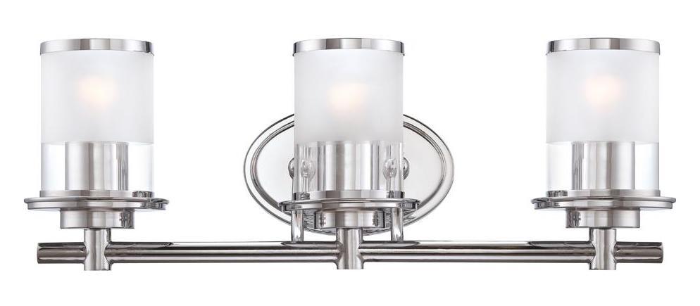New 3 Light Bathroom Vanity Lighting Fixture Chrome: Designers Fountain Chrome Essence 3 Light Bath Bar