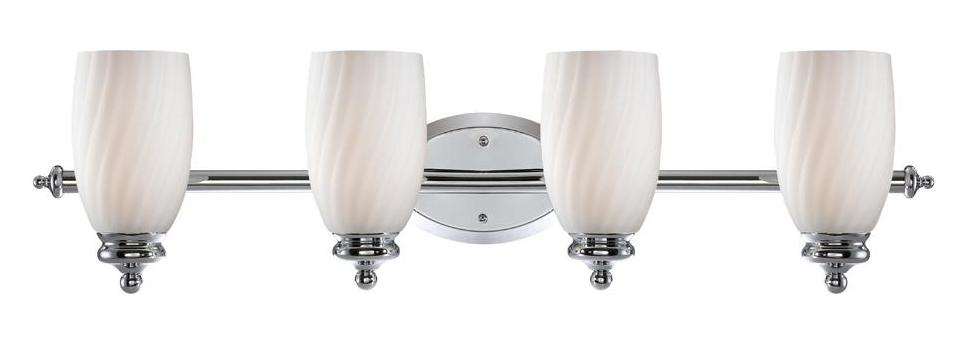 Designers Fountain Chrome Belize 4 Light Bath Bar Bathroom Fixture Chrome 6704 Ch From Belize