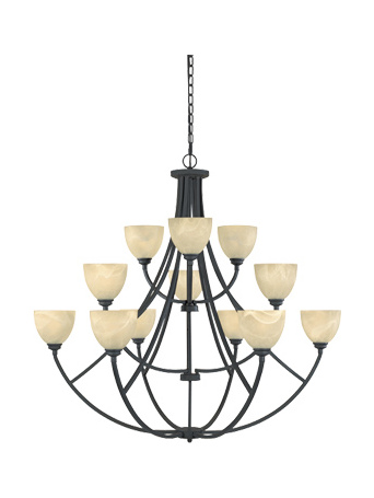 Designers Fountain Burnished Bronze 12 Light Chandelier