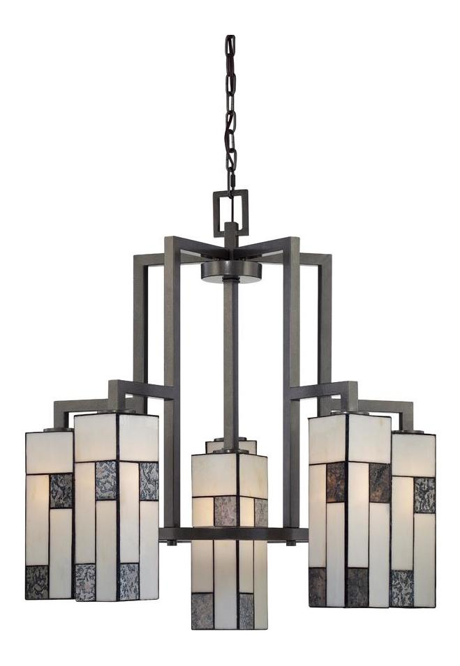 Designers Fountain Charcoal  6 Light Down Lighting Chandelier from the Bradley Collection