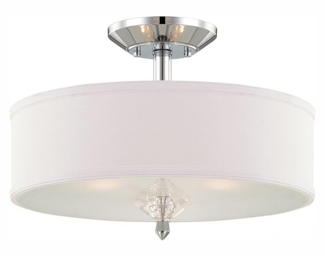 Decorative Star Ceiling Light Semi Flush Bathroom Fixture: Designers Fountain Chrome Palatial 3 Light Semi-Flush