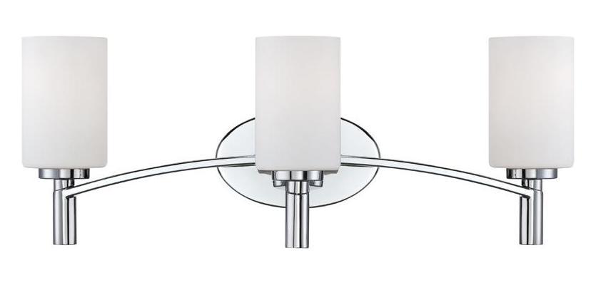 New 3 Light Bathroom Vanity Lighting Fixture Chrome: Designers Fountain Chrome Cordova 3 Light Bath Bar