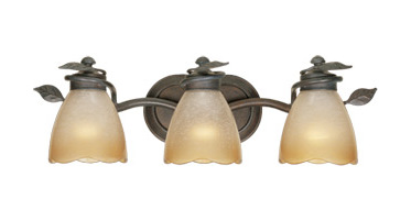 Designers Fountain Old Bronze Timberline Rustic / Country 24in. Bathroom / Vanity Light