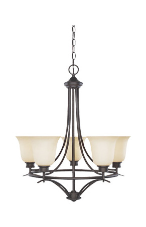 Designers Fountain Oil Rubbed Bronze 5 Light Up Lighting Chandelier
